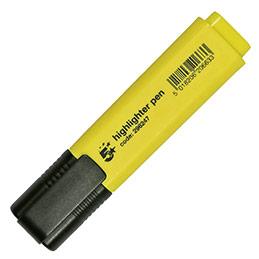 Surligneur économique - pointe biseautée - coloris jaune
