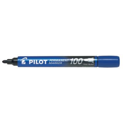 Marqueur permanent Pilot Marker 100 - pointe conique fine - bleu
