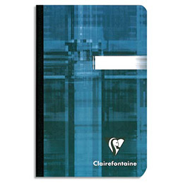 Carnet Clairefontaine - 90 g - 11 x 17cm  - brochure - couverture pelliculée  - 192 pages - (photo)