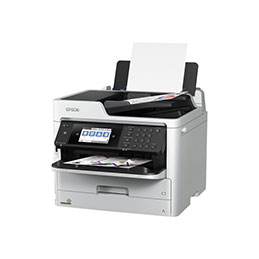 Epson WorkForce Pro WF-C5710DWF - Imprimante multifonctions - couleur - jet d'encre - A4/Legal (support) - jusqu'à 22 ppm (copie) - jusqu'à 34 ppm (impression) - 330 feuilles - 33.6 Kbits/s - USB 2.0, Gigabit LAN, Wi-Fi(n), hôte USB, NFC (photo)