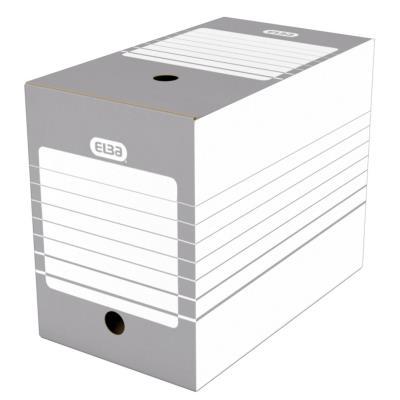 Boîte à archives en carton Elba - dos 20 cm - montage automatique - pour archivage à long terme
