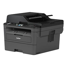 Brother MFC-L2710DW - Imprimante multifonctions - Noir et blanc - laser - Legal (216 x 356 mm) (original) - A4/Legal (support) - jusqu'à 30 ppm (copie) - jusqu'à 30 ppm (impression) - 250 feuilles - 33.6 Kbits/s - USB 2.0, LAN, Wi-Fi(n) (photo)