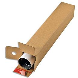 Boîte d'expédition longue Colompac - simple cannelure - fermeture autocollante - L61 x H10,8 x P10,8 cm - brun (photo)