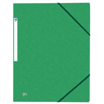 Chemises 3 rabats à élastiques Oxford Top File + A4 - vert