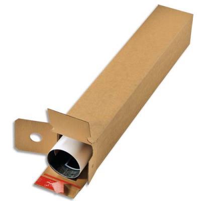Boîte d'expédition longue Colompac - simple cannelure - fermeture autocollante - L70,5 x H10,8 x P10,8 cm - brun (photo)