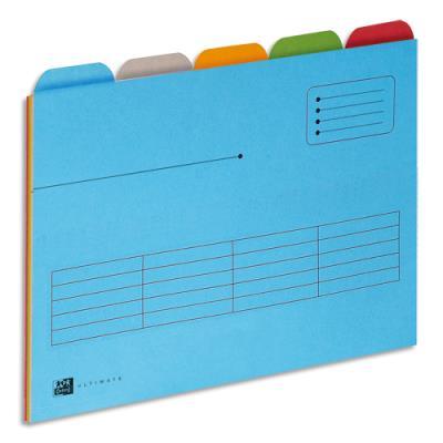 Chemise à onglets (5x5) L'Oblique Az Ultimate - A4 - pour tiroir - carte Canson - coloris assortis - paquet de 25 (photo)