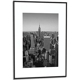 cadre photo contour alu noir plaque en plexiglas format 50 x 70 cm achat pas cher. Black Bedroom Furniture Sets. Home Design Ideas