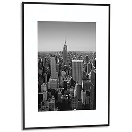 cadre photo contour alu noir plaque en plexiglas format 60 x 80 cm achat pas cher. Black Bedroom Furniture Sets. Home Design Ideas