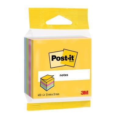 Mini bloc cube Post-It - 400 feuilles - 5,1 x 5,1cm - couleur ultra