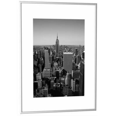 cadre photo contour alu argent plaque en plexiglas format 42 x 59 cm achat pas cher. Black Bedroom Furniture Sets. Home Design Ideas