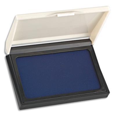 Tampon encreur réencrable - 10.5x6.5cm - bleu