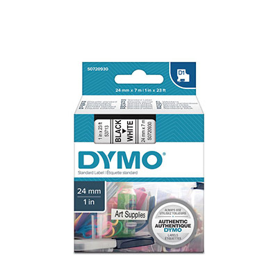 Dymo D1 - Ruban noir/blanc - 24 mm x 7 m (photo)