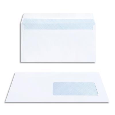 Enveloppes 110 x 220 La Couronne - fenetre 45 x 100 - auto-adhésive - extra-blanc - boîte de 200 (photo)