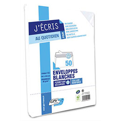 Enveloppes 162 x 229 GPV - blanches - auto-adhésives - 80 g - paquet de 50