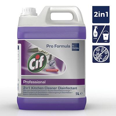 Pro Formula nettoyant liquide désinfectant professionnel 2-en-1 cuisine - bidon 5 L - violet (photo)