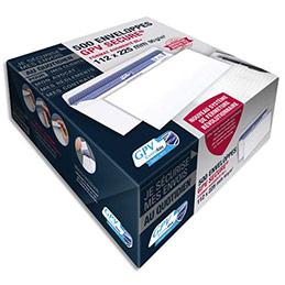 Enveloppes GPV Secure - format DL+ 112 x 225 mm - auto-adhésives - 90g - boîte de 500