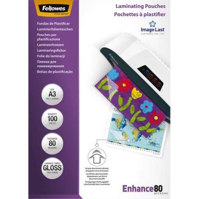 Pochettes Fellowes Imagelast - A3 - 80 microns - boîte de 100