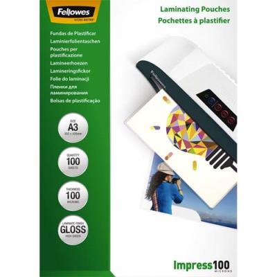 Pochettes Fellowes - A3 - 100 microns - boîte de 100