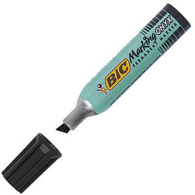 Marqueur permanent Bic Onyx Marker standard 1481 - pointe biseautée noir