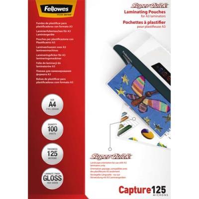 Pochettes de plastification Fellowes SuperQuick - A4 - 125 microns - boîte de 100