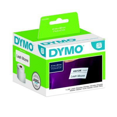 Rouleau de 300 étiquettes badge - Dymo - 89 x 41 mm - blanc