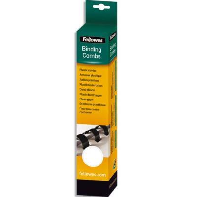 Boîte de 100 peignes en plastique Fellowes - 8 mm - blanc (photo)