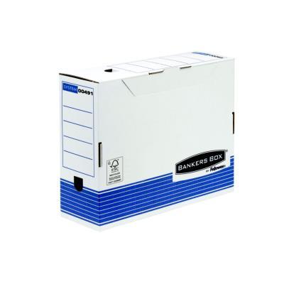 Boîte à archives en carton recyclé Fellowes System - dos 15 cm - montage automatique