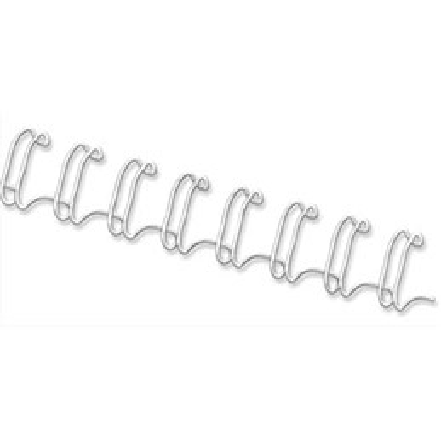 Boîte de 100 peignes métalliques Fellowes 34 boucles - 8 mm - blanc (photo)