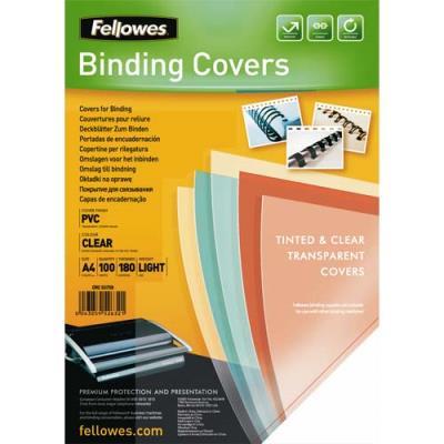 Plats de couvertures Fellowes - A4 - PVC - 180 microns - boîte de 100 - transparent