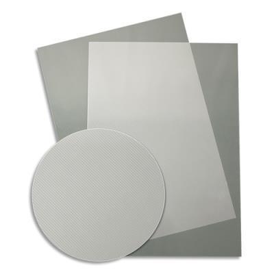 Plats de couvertures fantaisie Fellowes - PVC - 500 microns - boîte de 50 - transparent strié