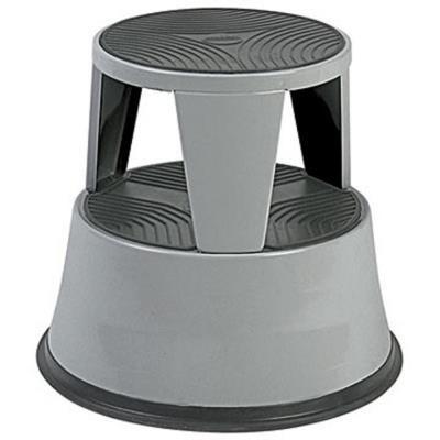 Marchepied tabouret métal - gris foncé (photo)