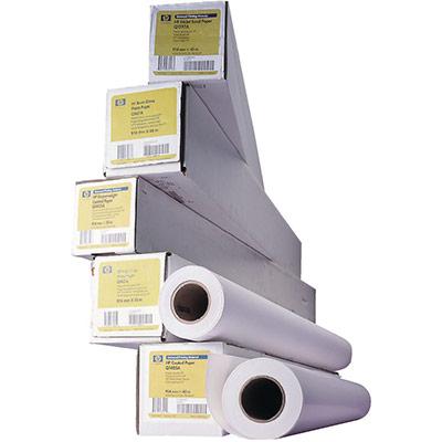 Rouleau de papier couché blanc brillant HP C6020B pour traceur - format 0,914 x 45,7m - 90g - rouleau 45,7 mètres