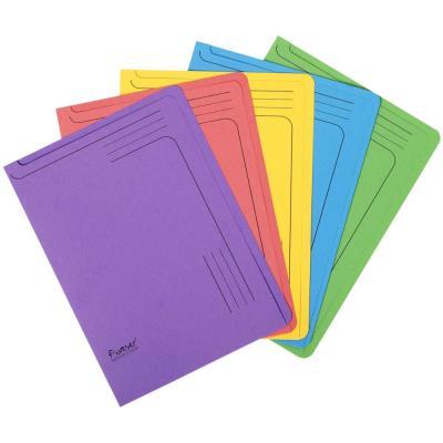Chemises à glissière Exacompta Forever A4 - 150 feuilles - carton comprimé recyclé - 220 x 310 mm - couleurs assorties - lot de 5 - paquet 5 unités