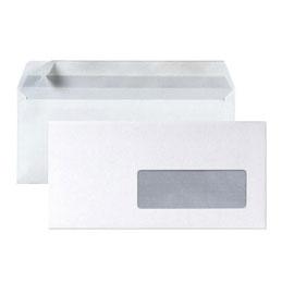 Enveloppes La Couronne à insertion mécanique - 80g - 114 x 229 mm - fenêtre 45 x 100 - blanc- boîte de 200 (photo)