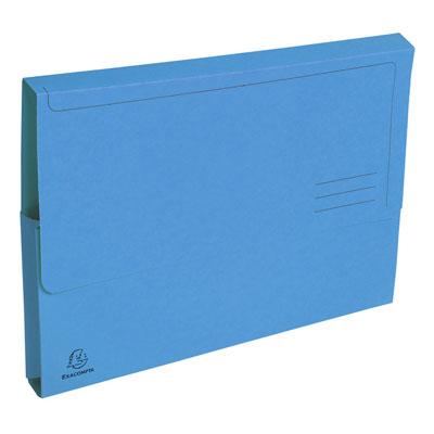 Chemises à poche Exacompta Forever - en carte recyclée 290g - bleu vif - paquet de 50