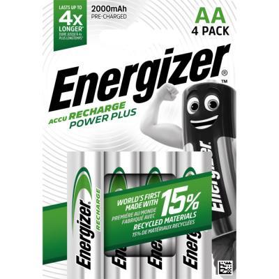 Pile Energizer AA HR6 Power plus - recheargeable - 2000 mAh - blister de 4 piles
