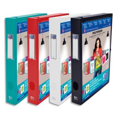 Boîte de classement personnalisable Elba Polyvision - format 24 x 32 cm - dos 4 cm - coloris assortis opaque