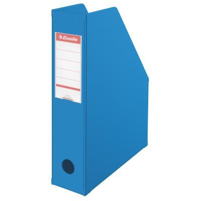 Porte-revues PVC Esselte - dos 7 cm - pour format A4 - 210 x 297 mm - H. 318 mm x l. 72 mm x P. 242 mm - bleu