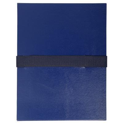 Chemise extensible à rabat Exacompta jusque 13 cm - fermeture à sangle Velcro - capacité 1000 feuilles A4 - bleu