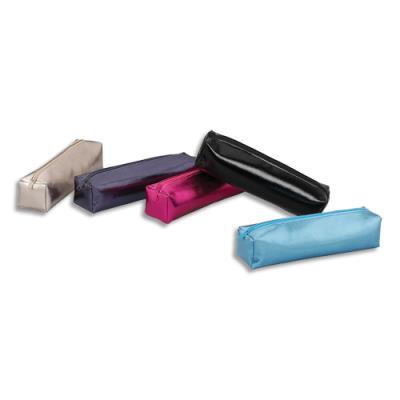 Trousse carrée Viquel Silver - 20 x 4,5 x 4,5cm - PVC assortis : argent, noir, violet, rose, bleu