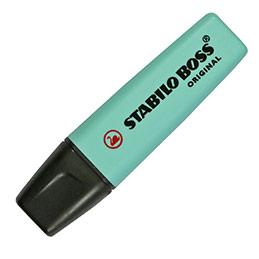 Stabilo Boss pastel turquoise - surligneur pointe biseautée