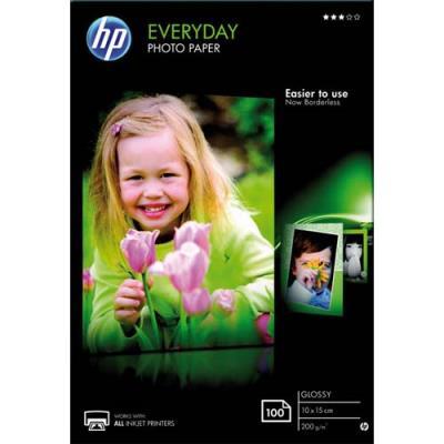 Papier photo HP Everyday CR757A - jet d'encre - brillant - 200g - 10x15 - Pack de 100 (photo)