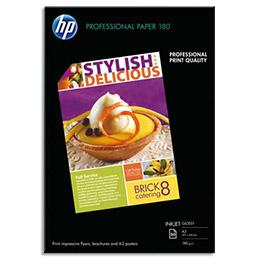 Papier photo professionnel HP C6821A - jet d'encre - brillant - 180g - A3 - pack de 50 (photo)