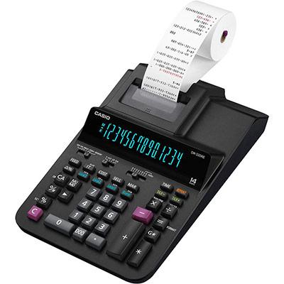 Calculatrice imprimante professionnelle Casio DR320 RE - 14 chiffres