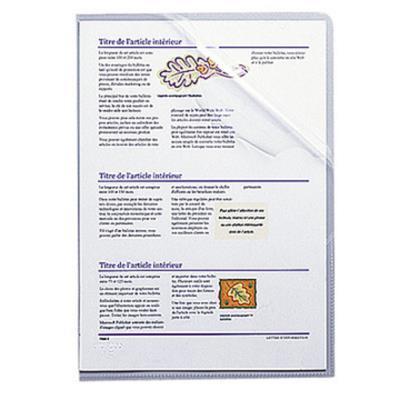 Boîte de 100 pochettes-coin Exacompta - incolore - stop-doc Ad Classement - en polypropylène 10.5/100e