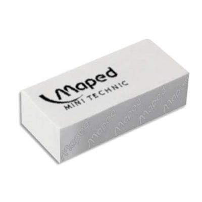Gomme Maped mini technic petit modèle avec fourreau pour le crayon, vendue par boîte de 36 (photo)