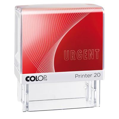 Tampon à formule Colop : URGENT - encrage automatique - empreinte rouge 38 x 14 mm