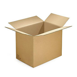 Caisse carton brune - simple cannelure - 50 x 40 x 30 cm - lot de 20 (photo)