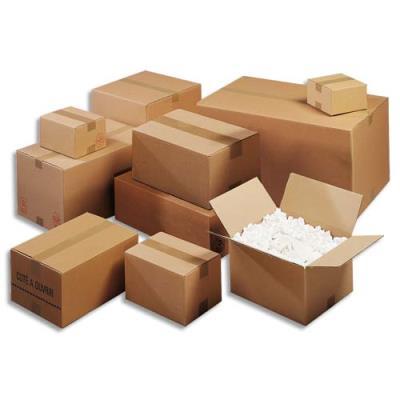 Caisse carton brune - simple cannelure -  50 x 40 x 40 cm - lot de 20