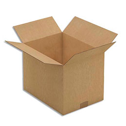 Caisse carton brune - double cannelure - 31 x 22 x 25 cm - lot de 15 (photo)